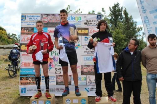 Xana Rguez. e Cristian Piñeiro conquistan a Picaraña en Ponteareas. Xana Campiona Galega Cadete de Montaña e Cristian subcampión!!! Grandes!!!
