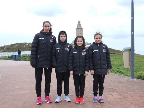O Maderas Barcia Lourenzá, de embaixador na emblemática VIII Carreira da Torre de Hércules en A Coruña. Ana Vallines, Bronce en cadete feminino!!!