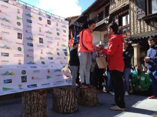 Xana Rguez.; espectacular no Trail Tres Valles en La Alberca