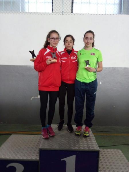 Ainara e Iria Rguez. suman un novo título ó seu palmarés:III Carreira da Augardente de Portomarín conquistada!!!