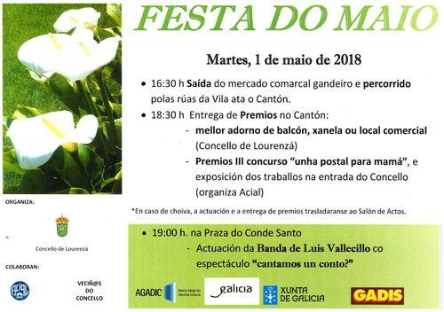 O CONCELLO ORGANIZA A FESTA DO MAIO O VINDEIRO MARTES CON PREMIOS PARA O MELLOR ADORNO DE BALCÓN, XANELA OU LOCAL COMERCIAL