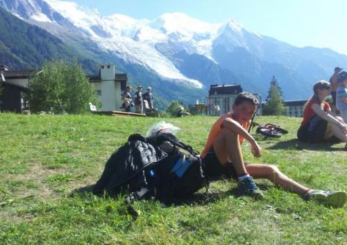 As E.D. Lourenzá representadas polo Gran Manu Rguez. no Mont Blanc!!!